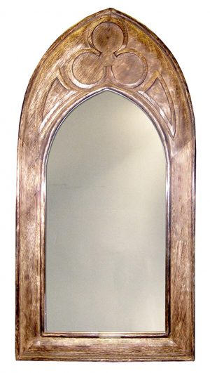 French Cream with carved scroll detail Distressed Vintage Look Mirror Carved Style Cream Wall mirror Oval Portrait