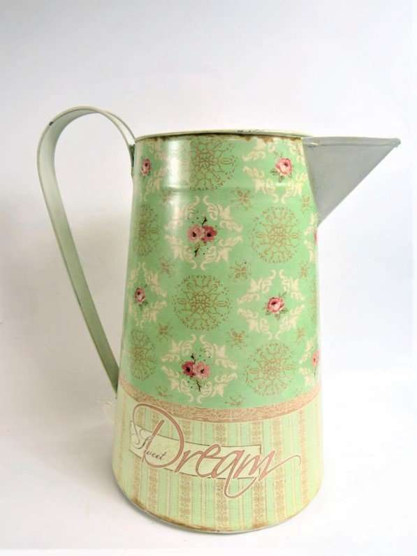 Tall Ornamental green Jug