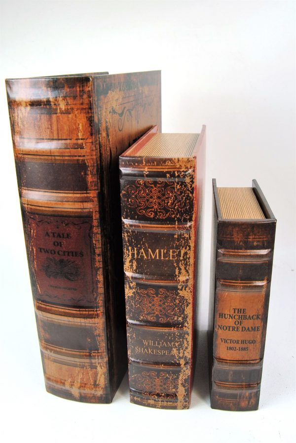Stacking storage Antiqued Books