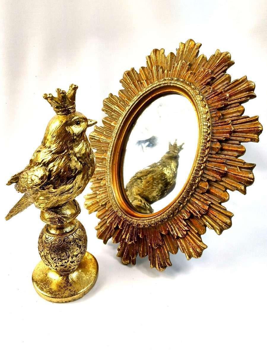 Gold Sunburst Oval Mirror