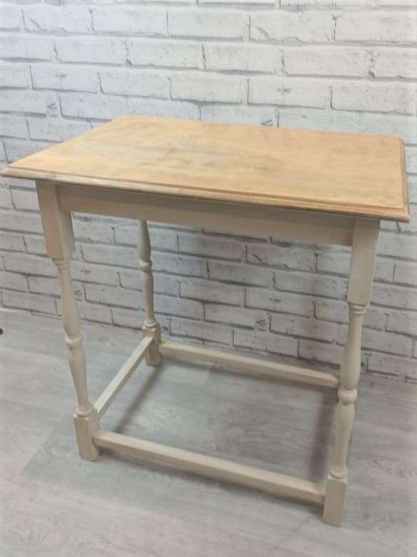 Oak Cream Upcycled Table